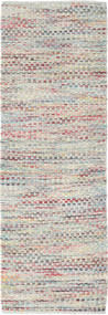 Tindra - Pastel Multi Rug 80X250 Authentic  Modern Handwoven Hallway Runner  Light Grey/Dark Beige (Wool, India)