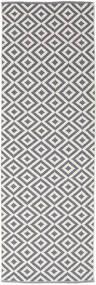 Torun - Grey/Neutral Rug 80X250 Authentic  Modern Handwoven Hallway Runner  Light Grey/Light Purple (Cotton, India)