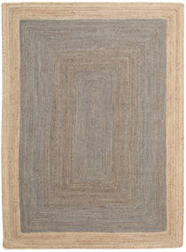 Frida Frame - Grey/Natural Rug 160X230 Authentic  Modern Handwoven Light Grey/Beige ( India)