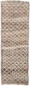 Moroccan Berber - Afghanistan Rug 83X248 Authentic  Modern Handknotted Hallway Runner  Light Grey/Beige (Wool, Afghanistan)