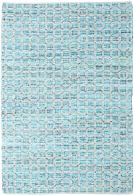 Elna - Bright_Blue Rug 170X240 Authentic  Modern Handwoven Light Blue/Turquoise Blue (Cotton, India)