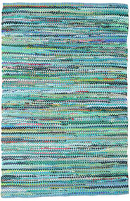 Ronja - Green Mix Rug 170X240 Authentic  Modern Handwoven Turquoise Blue/Light Blue (Cotton, India)