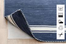 Anti Slip, Non-Woven Rug 80X300 Modern Hallway Runner Blue/Light Grey ( Belgium)