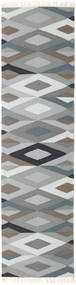 Zimba - Grey Rug 80X400 Authentic  Modern Handwoven Hallway Runner  Light Grey/Dark Grey (Wool, India)