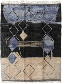 Berber Moroccan - Mid Atlas Rug 310X395 Authentic  Modern Handknotted Black/Light Grey Large (Wool, Morocco)