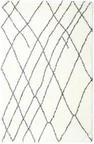Shaggy Tangier - White/Dark Grey Rug 200X300 Modern Beige/Light Grey ( Turkey)