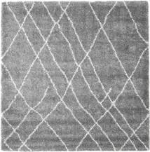 Shaggy Tangier - Grey/White Rug 250X250 Modern Square Light Grey/Dark Brown/Dark Grey Large ( Turkey)