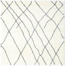 Shaggy Tangier - White/Dark Grey Rug 250X250 Modern Square Beige/White/Creme Large ( Turkey)