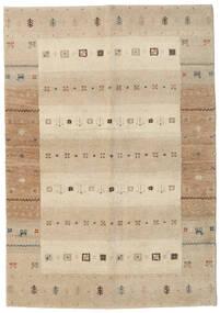 Gabbeh Indo Rug 138X198 Authentic  Modern Handknotted Hallway Runner  Beige/Light Grey (Wool, India)