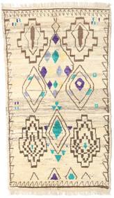Moroccan Berber - Afghanistan Rug 112X193 Authentic  Modern Handknotted Beige/Dark Beige (Wool, Afghanistan)