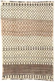 Barchi/Moroccan Berber - Afganistan Rug 194X286 Authentic  Modern Handknotted Beige/Dark Brown (Wool, Afghanistan)