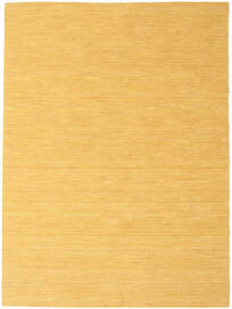 Kilim Loom - Yellow Rug 140X200 Authentic  Modern Handwoven Light Brown/Yellow (Wool, India)