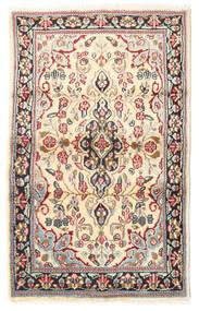 Kerman Rug 88X140 Authentic  Oriental Handknotted Light Brown/Beige (Wool, Persia/Iran)
