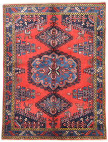 Wiss Rug 157X210 Authentic  Oriental Handknotted Dark Purple/Crimson Red (Wool, Persia/Iran)