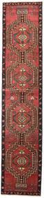 Ardebil Patina Rug 81X385 Authentic Oriental Handknotted Hallway Runner Dark Red/Black (Wool, Persia/Iran)