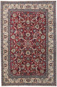 Yazd Patina Rug 200X304 Authentic Oriental Handknotted Dark Purple/Light Grey (Wool, Persia/Iran)