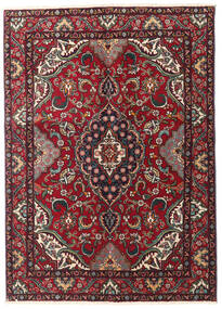 Tabriz Rug 135X190 Authentic  Oriental Handknotted Dark Red/Black (Wool, Persia/Iran)