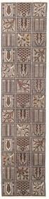 Bakhtiari Patina Rug 70X305 Authentic Oriental Handknotted Hallway Runner Light Grey/Dark Brown (Wool, Persia/Iran)