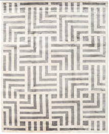 Maze Rug 250X300 Authentic  Modern Handknotted Beige/Light Grey Large ( India)