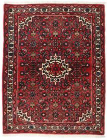 Hamadan Rug 113X142 Authentic  Oriental Handknotted Dark Red/Dark Brown (Wool, Persia/Iran)