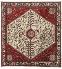 Abadeh Rug 195X210 Authentic  Oriental Handknotted Square Dark Brown/Dark Red (Wool, Persia/Iran)