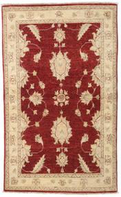 Ziegler Rug 87X147 Authentic Oriental Handknotted Dark Red/Dark Beige (Wool, Afghanistan)