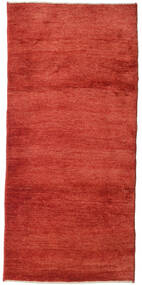 Gabbeh Persia Rug 95X205 Authentic Modern Handknotted Rust Red (Wool, Persia/Iran)