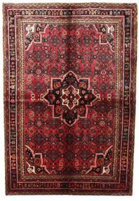 Hamadan Rug 164X240 Authentic  Oriental Handknotted Dark Red/Brown (Wool, Persia/Iran)