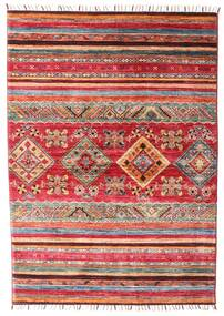 Shabargan Rug 106X148 Authentic  Modern Handknotted Rust Red/Dark Red (Wool, Afghanistan)