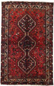 Shiraz Rug 145X228 Authentic  Oriental Handknotted Dark Red/Black (Wool, Persia/Iran)