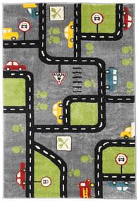 City Roads Rug 120X180 Modern Dark Brown/Black ( Turkey)