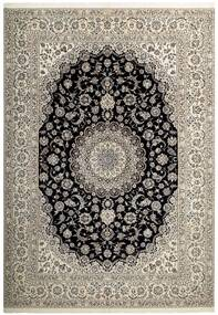Nain 6La Rug 255X358 Authentic  Oriental Handwoven Light Grey/Dark Grey Large (Wool/Silk, Persia/Iran)