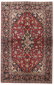Keshan Rug 137X218 Authentic  Oriental Handknotted Dark Red/Black (Wool, Persia/Iran)