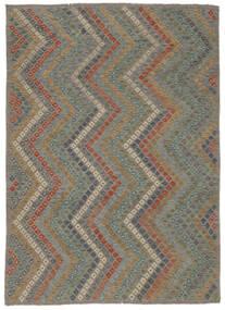 Kilim Afghan Old Style Rug 213X285 Authentic  Oriental Handwoven Light Grey/Dark Grey (Wool, Afghanistan)