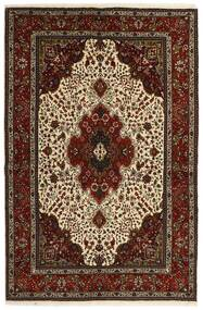 Tabriz 40 Raj Rug 151X221 Authentic  Oriental Handwoven Dark Brown/Beige (Wool/Silk, Persia/Iran)