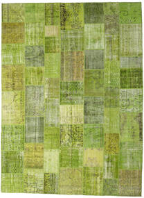 Patchwork - Turkiet Rug 300X400 Authentic  Modern Handknotted Light Green/Olive Green Large (Wool, Turkey)