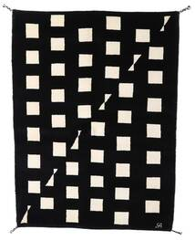 Gabbeh Indo Rug 144X198 Authentic  Modern Handknotted Black/Beige (Wool, India)