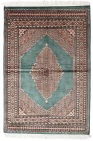 Pakistan Bokhara 3Ply Rug 142X208 Authentic  Oriental Handknotted Dark Grey/White/Creme (Wool, Pakistan)