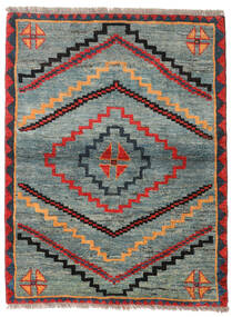 Gabbeh Rustic Rug 112X148 Authentic Modern Handknotted Light Grey/Green (Wool, Persia/Iran)