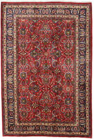 Mashad Rug 196X292 Authentic  Oriental Handknotted Dark Red/Dark Brown (Wool, Persia/Iran)