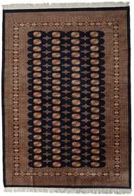 Pakistan Bokhara 2Ply Rug 220X303 Authentic  Oriental Handknotted Dark Brown/Dark Red (Wool, Pakistan)