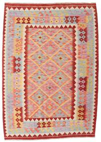 Kilim Afghan Old Style Rug 128X181 Authentic  Oriental Handwoven Light Grey/Light Pink (Wool, Afghanistan)