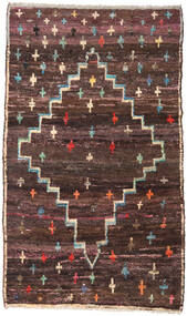 Moroccan Berber - Afghanistan Rug 114X190 Authentic  Modern Handknotted Dark Brown/Light Brown (Wool, Afghanistan)