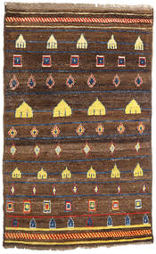 Moroccan Berber - Afghanistan Rug 118X190 Authentic  Modern Handknotted Brown/Dark Brown (Wool, Afghanistan)