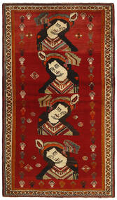 Qashqai Rug 119X212 Authentic  Oriental Handknotted Crimson Red/Dark Red (Wool, Persia/Iran)