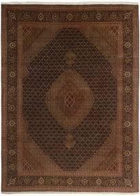 Tabriz 50 Raj Rug 244X344 Authentic  Oriental Handknotted Dark Brown/Brown (Wool/Silk, Persia/Iran)
