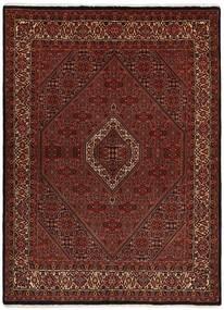 Bidjar With Silk Rug 170X228 Authentic  Oriental Handwoven Dark Brown/Dark Red (Wool/Silk, Persia/Iran)