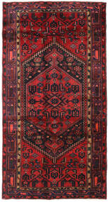 Hamadan Rug 136X259 Authentic  Oriental Handknotted Dark Red/Dark Brown/Rust Red (Wool, Persia/Iran)