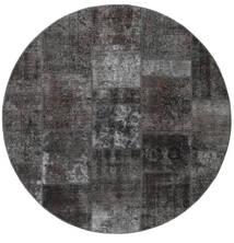 Patchwork - Persien/Iran Rug Ø 200 Authentic  Modern Handknotted Round Dark Grey/Black (Wool, Persia/Iran)
