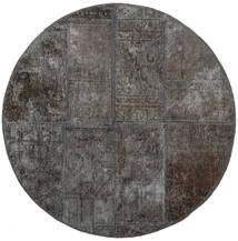 Patchwork - Persien/Iran Rug Ø 100 Authentic  Modern Handknotted Round Dark Grey (Wool, Persia/Iran)